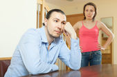 Middle-aged married couple having quarrel — Stock Photo