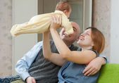 Happy parents with newborn — Stock Photo