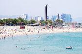 Nova Icaria beach in Barcelona, Spain — Stock Photo