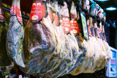 Serrano hamon at Boqueria market — Stock Photo