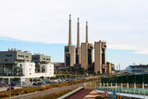 Closed power thermal station. Barcelona — Stock Photo