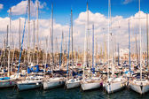 Yachts in Port Vell. Barcelona, Spain — Stock Photo