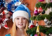 Teen girl in christmas — Stock Photo