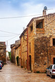 Houses in Catalan village. Pubol — Stock Photo