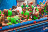 Tomatina festiva — Stock Photo
