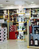 Alcohol duty-free store — Stock Photo