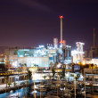 Night view of  power plant and Port — Stock fotografie