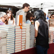 Books on street stalls in Saint George day. Barcelona — Stock Photo