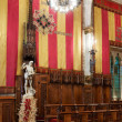 Hall of Council of One Hundred in city hall of Barcelona — Stock Photo