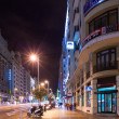 Stock Photo: Night view of GrVifrom Spain Square