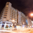 Wide angle night shot of Gran Via avenue — Stock Photo
