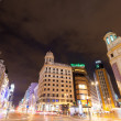 Stock Photo: Evening view of GrViin Madrid, Spain