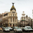 Stock Photo: Traffic on city streets in Madrid. Spain