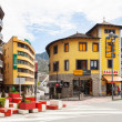 Streets with shops in AndorrlVella — Stok Fotoğraf #31087329