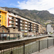 Gran Valira at city.  Andorra la Vella — Stock Photo