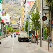 Streets with shops in AndorrlVella — Stok Fotoğraf #31087385
