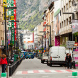 Streets with shops in AndorrlVella — Stok Fotoğraf #31087391