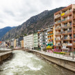 Постер, плакат: Valira river at city Andorra la Vella