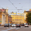 View of Saint Petersburg.  Inzhenernaya street — Stock Photo