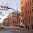 图库照片: View of St. Petersburg. Gorohovaya street