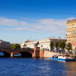 View of St. Petersburg. Anichkov Bridge  — Stock Photo