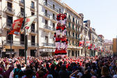 Castell - Traditionally Catalan show is human tower — Stock Photo