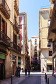 Picturesque streets of Barri Gotic. Barcelona — Stock Photo