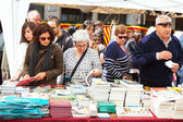 Books on street stalls in Saint George day — Stock Photo
