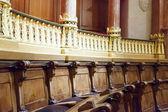 Asientos en el interior del ayuntamiento barcelona — Foto de Stock