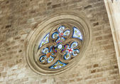 Stained-glass window of city hall of Barcelona — Stock Photo