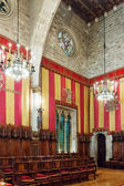 Council of One Hundred in city hall of Barcelona — Stock Photo