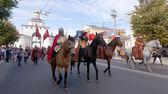 Ryska riddare i historiska pansar — Stockfoto