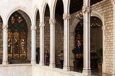 Arquitectura gótica del ayuntamiento de barcelona — Foto de Stock