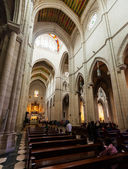 Interior of Almudena Cathedral in Madrid, Spain. — Stock Photo