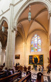 Inside of Almudena Cathedral — Stock Photo
