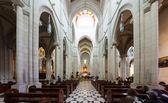 Vista panorámica del interior de la catedral de la almudena — Foto de Stock
