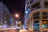 Vue de la nuit de la gran via de l'espagne carré — Photo