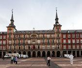 Buildings at Plaza Mayor in Madrid, Spain. — Stock Photo