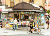 News stands in Madrid, Spain. — Stock Photo