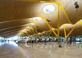 Check-in hall of Barajas Airport — Stock Photo