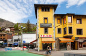 View of streets with shops in Andorra la Vella — Stock Photo