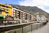 Gran Valira at city. Andorra la Vella — Stock Photo