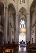 Interior of Temple Expiatori del Sagrat Cor in Barcelona — Stock Photo