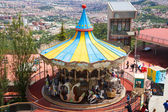 Carrousel at Tibidabo Amusement Park in Barcelona, Spain — Foto Stock