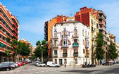 View of Barcelona, Spain. Avinguda de la Meridiana — Stock Photo