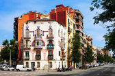 Picturesque houses at Av. Meridiana — Stock Photo