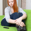 Teenager waits telephone call — Stock Photo