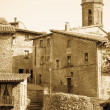Vintage photo of old Catalan village in Pyrenees  — Stock Photo