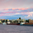 Vasilyevsky Island in morning — Stock Photo