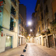 Night view of old narrow street of european city — Stock Photo #32305915
